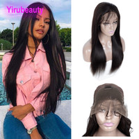 Indian Virgin Hair 13X4 Lace Front Wig Straight Human Hair L...