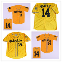 Jersey Bel-Air Jersey Bel-Air Will Smith Broderie Fresh Prince Chemise Jaune Taille S-3XL