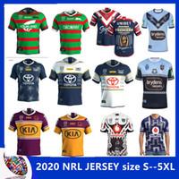 2020 Austral Sydney galos jersey de rugby 2020 BLUES South Sydney Rabbitohs NSW guerreiro tamanho North Queensland VAQUEIROS Home Jersey S-5XL