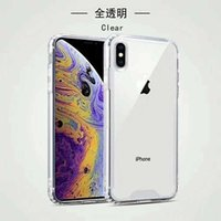 Custodia rigida trasparente per PC rigida in TPU antiurto per iPhone X Custodia protettiva per iPhone per iPhone 8 plus