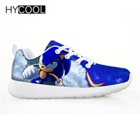 HYCOOL Kinder Schuhe für Kinder Jungen Sonic the hedgehog Flache Sneakers Outdoor Sports Laufschuhe Chaussure Enfant Garcon Fille