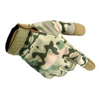 Outdoor Nuova camuffamento tattici guanti dell'esercito impermeabile Paintball Shooting guanti dell'esercito Airsoft Anti-Skid completa di tocco della barretta Cy