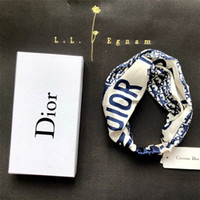 Women Big Classic Letter Hair Bands Fashion Satin Cross Head...