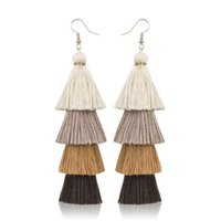 New Arrival 10 Colors Boho Statement Fashion Tassel Drop Ear...