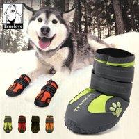 Top Quality New 100% impermeável Quente Big Dog Shoes Inverno Grande Pet Animal de Estar Longo Cão Botas antiderrapantes Sapatos para Cães 4 Pcs / Set 4.9