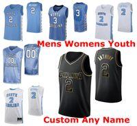 NCAA NEWER CAROLINA TAR THEELS THERESS 3 Andrew Platek Jersey 4 Brandon Robinson Shea Rush K.j. Смит баскетбол майки мужские обычай сшитые