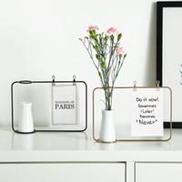 Demir Çerçeve Fotoğraf Çerçevesi Su Kültürü Vazo Demir Seramik Hidroponik Çiçek Eklenen Yeşil Bitki