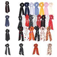 moda punto dell'onda Stampa Scrunchie Hairband sciarpa elastica Hairband capelli dell'arco ragazze legami dei capelli dei capelli del partito degli accessori FavorT2C5124