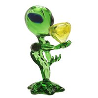 "Punto de G extranjeros Tubos Recycler Dab aparejo de cristal pipas de mano Tubos 6.69"" pulgadas extranjero de la plataforma petrolera de cristal Bongs Dab"