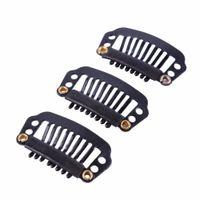 2,8 cm Black Hair Snap Clips für Erweiterungen U Form Weave Toupee Perücke 8 Zähne Clips Styling Werkzeuge