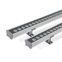 24W LED Wall Washer luce lineare, impermeabile IP66 wallwash luce di inondazione con l'acciaio del pannello di vetro, per Architectural Building decorazione esterna
