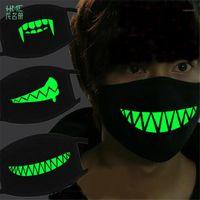 Маска Творческого Halloween Horror Маска Черной Luminous Cotton Dust Маска личность Зубы Anti-туман Haze мода Mouth1