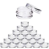 100pcs 2G / 3G / 5G / 10g vacíos de plástico maquillaje cosmético Pots tarro transparentes botellas de muestra de sombra de ojos Cream Lip Balm contenedores