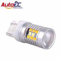 고전력 28-SMD 1157 7443 전면 턴 신호등에 대 한 듀얼 컬러 스위치 백 LED 전구