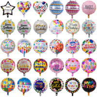 45 cm Fiesta de cumpleaños inflable de las decoraciones de los globos de la burbuja del globo de la burbuja del globo de la burbuja de las flores de la historieta de los niños del feliz cumpleaños de los niños juega al por mayor