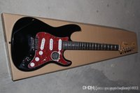 New Arrival Custom Guitar stratocaster F SSS black Red Pickg...
