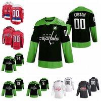 Capitales de Washington jerseys Travis Boyd Jersey Nic Dowd Lars Eller Carl Hagelin Granate Hathaway camisetas de hockey Lucha nCoV cosido personalizada
