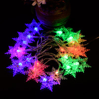 2M 20heads Hexagonal Snowflakes LED Copper Wire String Fairy...