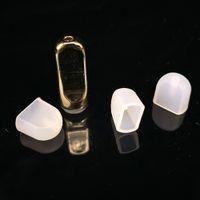 E Cigarette usa e getta Silicone Cap Drip Tip cappuccio del tappo di plastica per Flat boccaglio ceramica vapore Cartuccia Spesso olio Vape Pen