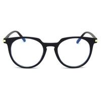 50e1d4161c Hombres de la moda Óptico Marco de Lentes Redondas Gafas de Bloqueo de Luz  Azul Gafas Transparentes de Miopía Mujeres Anti blue ray Espectáculos