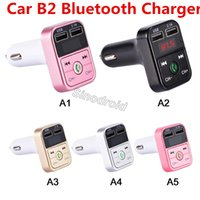 B2 Transmisor FM Modulador Aux. Manos Libres Bluetooth Equipo de Coche Reproductor de MP3 de Audio para Coche con 2.1A Cargador de Coche Dual USB de Carga Rápida
