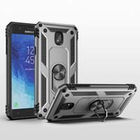 cas d'armure Porte-Rotating Métal Anneau Béquille antichocs pour Samsung Galaxy J7 2018 J7V J7 Affiner J7 Aero, J7 Star, J7 Top, J7 Couronne