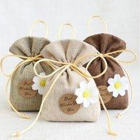 El mejor deseo para ti de algodón Lavanda Lavanda Bolsa de bolsita Pequeño té bolsa Dormitorio Desodorante paquete nupcial ducha favor regalo bolsa