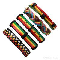 Bracelet en cuir noir hommes Multilayer Braid Bracelets Wrap pour les femmes Punk Bijoux Hommes Casual