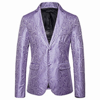 Mens Blazer Smoking Jacket Prom Party Wedding Blazer Men barroco Hombre Estampado Homens fantasia Slim Fit Masculino