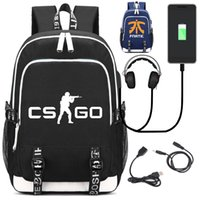 Game school bag CS CSGO Backpack with USB Charging Port and ...