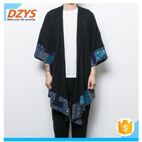 2018 trendy men' s retro coat shawls clothing gown cloth...