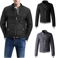 Uomo Italia Giacca Man Cotton Padded Jacket Slim Fit Black G...