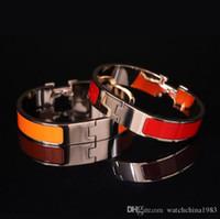 2019 12 мм браслет пряжка титановый стальной браслет браслет браслет эмаль браслет пряжка классический бренд высококачественный падение