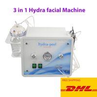 اللوازم الطبية هيدرا الوجه آلة تنظيف 3 في 1 هيدرو جلدي الجلد المحمولة الأكسجين الماس المياه جت تقشير تنظيف الوجه