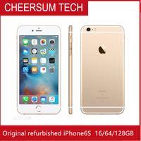 Yenilenmiş Orjinal iPhone kilidi 6s YOK TOUCH Kimlik Cep telefonu 4G LTE 4,7 inç IOS 2GB RAM 16GB / 64GB ROM iphone6s