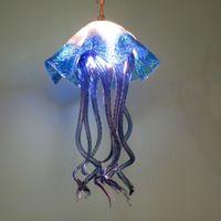Fisch-Art durchgebranntes Glasplatte Kronleuchter Modern Art entworfen Muranoglas Pendelleuchte Handgemachte geblasenem Glas LED Beleuchtung für Wohnkultur