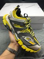 أزياء الرجال والنساء 3M الثلاثي S المسار 3.0 الإصدار 3 تيس منصة أحذية حذاء رياضة باريس أحذية الركض عارضة حذاء رمادي أصفر