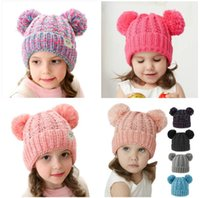 Fashion Parent- child Caps Cute Infant Baby Pompon Winter Hat...