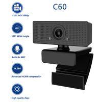USB Full HD webcam pour ordinateur Caméra web caméra web caméra vidéo 1080p avec l'annulation de bruit d'annulation 110 degrés degré H264