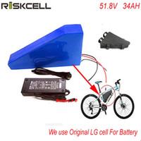 Yeni arriver üçgen pil paketi lityum pil 52 v 34ah LG cep Için elektrikli bisiklet pil