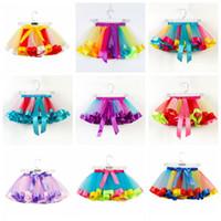 بنات طفل توتو تنورة تول Raninbow الجنية PETTISKIRT يتوهم الباليه تنورة الكشكشة DANCEWEAR الأميرة البسيطة اللباس المرحلة ارتداء الملابس B5464