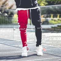 Mens Casual Pants Спортивная Фитнес Sweatpants Hip Hop Уличная мужская Тощий Брюки Bottom Track Pant Осень бегуны Мужчины
