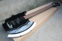 Chitarra elettrica classica a 4 corde con firma sul corpo, tastiera in palissandro, hardware cromato, offerta personalizzata