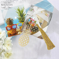 20PCS Pineapple Bookmark with Tassel Party Shower Wedding Fa...