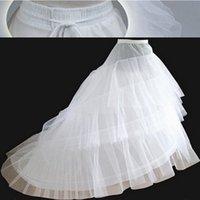 A estrenar Blanco Tull Petticoats con tren 3 capas 2 aros Dessudos Accesorios de boda Crinoline para vestido de novia Vestido formal
