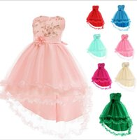 Kids Clothes Bridesmaid Pageant Dress Wedding Ball Gown Prin...