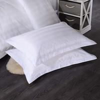 Funda de almohada 18 1pc Color sólido Caso de almohada de algodón egipcio Blanco Pink Pink Tapa de grapa larga Long Sham Pillowlip