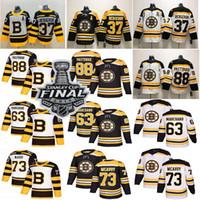 2019 Coupe Stanley des Bruins de Boston Patrice Bergeron Jersey 37 88 David Pastrňák 40 Tuukka Rask 63 Brad Marchand 33 Zdeno Chara Hockey Maillots