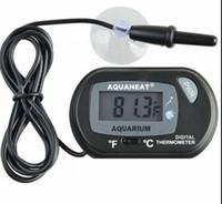 Mini Digital Fish Aquário Termômetro Tanque com Sensor de Bateria incluído no saco de opp Preto cor Amarela para a opção Frete grátis