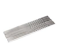 2Pcs/Pair Chopsticks Anti-skip Thread Style Portable Chinese Food Necessary Chop Sticks Stainless Steel Tableware